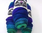 Rainbow Cool Voodoo  - Double Stranded Hand Dyed Sock Blank