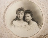 RESERVED for Robyn - Antique French photograph, sisters photograph, carte de visite, Victorian- please do not buy unless you're ROBYN