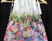 Pink and Purple Fairy and Flower Panel Pillowcase Dress Custom Made For Babies and Girls