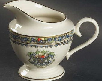 Lenox China, Autumn Pattern, Creamer, Coffee Creamer, Vintage China, 24K Gold Trimmed, Fine Dining with Floral Motif