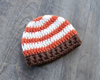 Crochet Baby Boy Fall Hat, First Thanksgiving Fall Baby Hat, Newborn Fall Baby Boy Hat, Fall Baby Shower Gift, Fall Photo Prop