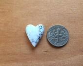 Magnesite Heart Cabochon