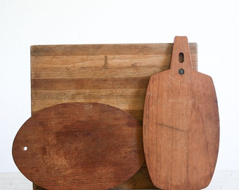 Vintage Cutting Board Collection / Wood Chopping Block / Food Styling Props