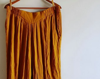 Golden Amber Vintage 80s Tapered Slouch Pants