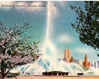 Vintage Chicago Postcard - Buckingham Fountain (Unused)