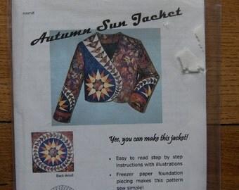 2004 quilt fashions sewing pattern Autumn Sun Jacket uncut misses sz S-M-L