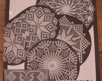 Vintage 60s crochet patterns ELIZABETH HIDDLESON vol. 8 bedspread doilies