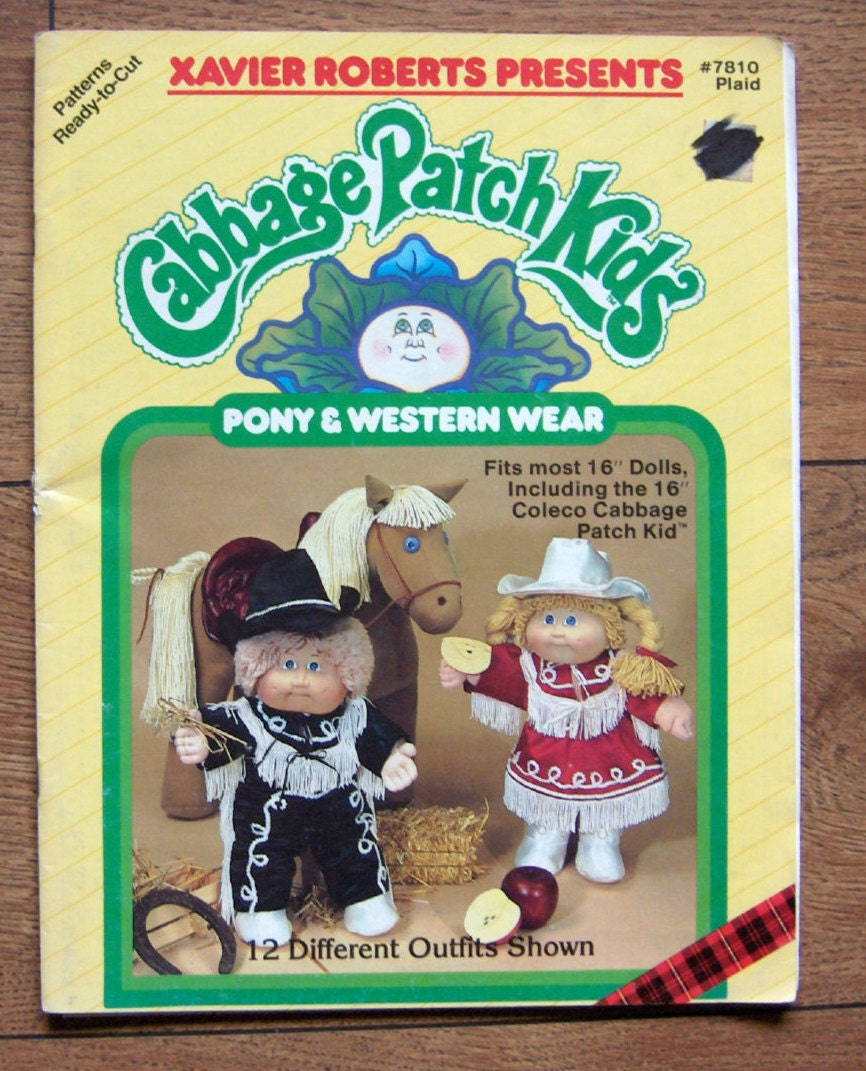 vintage 1984 cabbage patch doll clothes pony and western wear