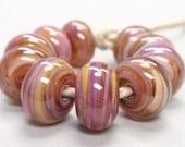 Bigger Royal Ballet Swirls  - 10 Handmade Lampwork Beads SW 144