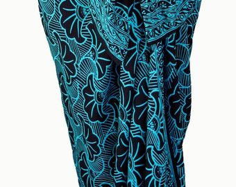 Beach Sarong Wrap Skirt Batik Pareo Womens Clothing Gingko Leaf -  Black Sarong Cover Up Beach Skirt - Hawaiian Sarong - Beach Wrap Coverup
