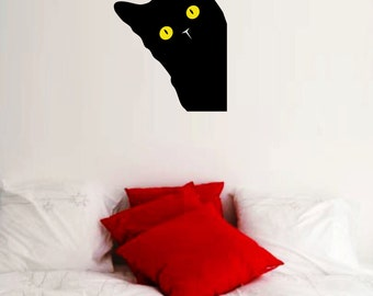 Hide and Seek Cat Wall Decal