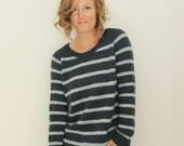 KNITTING PATTERN // Clarke Pullover // top-down striped dk sweater -- PDF