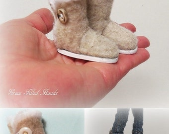 Hugg Doll Boots Pattern PDF Tutorial Pictorial for Your Bratz Moxie Dolls Feet