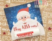 Merry KISSmas PRINTABLE   Lip Balm gift tag for teachers, bosses, customers, friends, neighbors, stocking stuffers, Rodan Fields