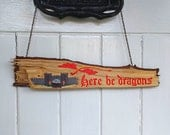 Custom Dragon Name Door Hanging Door Plate