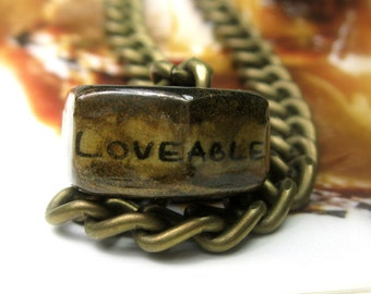 Gifts for Men, Industrial Chic Antiqued Brass Hex Nut Necklace, Metal Jewelry, Mens Accessories, Humorous Anniversary Gift Ideas, Boho Chic