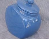 Blue ceramic cookie jar Just Reduced!