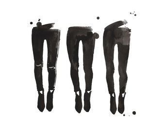 Legs for Days, print from original watercolor fashion illustration by Jessica Durrant