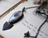 Winter Vane Silver Statement Necklace