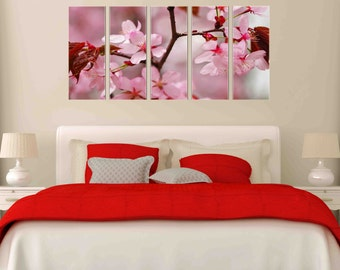 Canvas Prints - Canvas Print of Pink Flower - Flower Canvas Art - Flower Wall Decor - Framed Ready to Hang - Floral Prints On Canvas