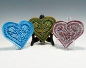 Springerle Chalkware Heart Valentines Heart Heart Ornament Chalkware Ornament Chalkware Heart Ornament Springerle Heart Valentines Heart