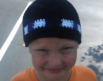 Handmade Crochet MineCraft Enderman Hat