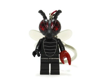 The Fly Keychain - made from Series 14 LEGO® Minifigure