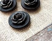 Push Pins Thumbtacks Pushpin Decorative Thumb Tack Magnet Rustic Wood Flower Circle Espresso Bronze Black Office Supplies Decor Unique Gift