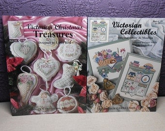 Destash - Victorian Stitching Cross Stitch Pattern Books - Lot of Two