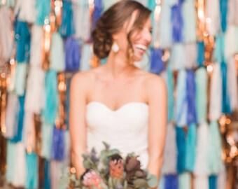 Tassel Garland Backdrop // wedding backdrop // photography backdrop // photo booth backdrop