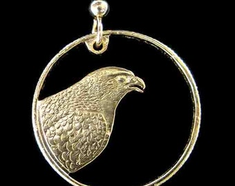Cut Coin Jewelry - Earrings - US - Peregrine Falcon
