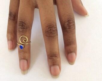 Blue Cat's Eye Ring