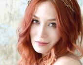 Crystal crown, twig crown, woodland headpiece, fairy tiara, medieval crown, hair accessories