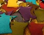 IN STOCK! Leather Minnesota Key Rings / Key Chains / Key Fobs