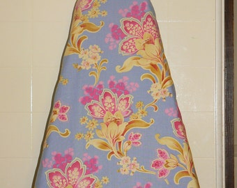 Ironing Board Cover - Periwinkle Large Floral..Fabric by Jennifer Paganelli