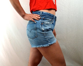 Vintage 90s Levis Denim Cut Offs Shorts
