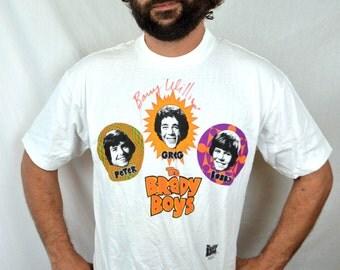 Vintage 1993 90s Brady Bunch Boys Tee Tshirt Shirt - Greg Brady, Barry Williams Autograph