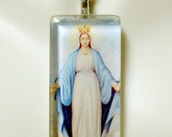 Miraculous medal pendant with chain - GP12-293