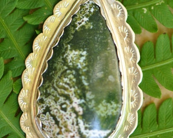 Ocean Jasper and Sterling Silver Pendant