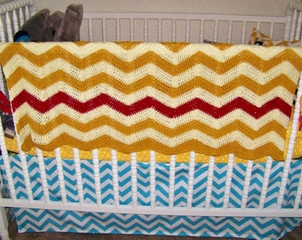Baby Nursery Afghan Blanket - 1st Baby Afghan - Nursery Decor Blanket - Crochet Baby Blanket Afghan - Newborn Photo Prop Blanket