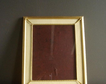 Vintage Ornate Double Brass Frame with Embossed Detailing - Gorgeous Vintage Frame with Velvt Floral Mat