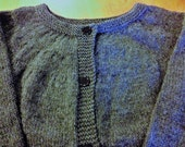 Women Gray Sweater, Woman Small Sweater, Woman Wool Cardigan, Cardigan Ready To Ship, Woman Sweater Ready To Ship