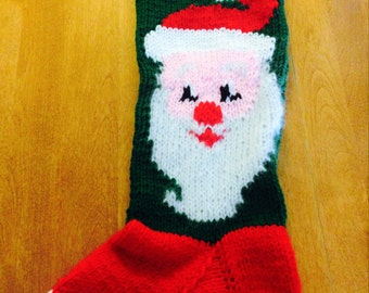 Santa Clause Christmas Stocking, Santa Stocking Angora Face, Christmas Stocking, Personalized Christmas Stocking
