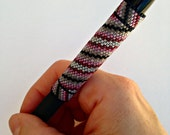 Pen Cover Pattern - Diagonal Stripes - Peyote Pattern