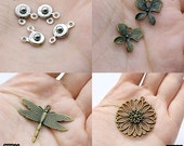 Big Sale-Antiqued Vintage Charms / Pendants (21044/20923/20944/20903)-Clearance Sale