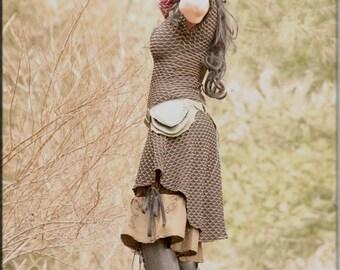 Scarf - Burning Man - Playa Wear - Gypsy Bohemian Fashion - Cowl Neck Scarf - Burgundy - Hooded Cowl - Circular Scarf - Pixie - One Size