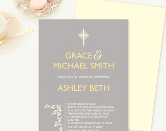 First Communion Invitation, Confirmation Invite, Baptism Invite, Bautizo Invitation, Catholic Invitation, Dedication Invite, Cross Invite