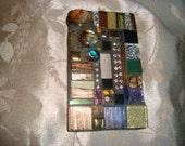 MOSAIC LIGHT SWITCH Plate, Single Switch, Wall Art, Earth Tones, Boho