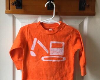 Kids Excavator Shirt, Kids Digger Shirt, Toddler Truck Shirt, Kids Truck Shirt, Boys Truck Shirt, Girls Truck Shirt (18 months)