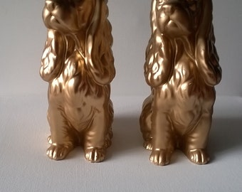 Ceramic Dog Statues,Home Decor,Pets,Vintage Recycled